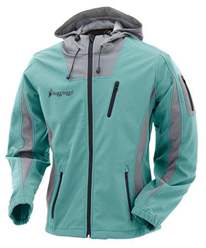 FROGG TOGGS Willow Creek Softshell Fleece Jacket, Women's, Seafoam/Gray, XX-Large