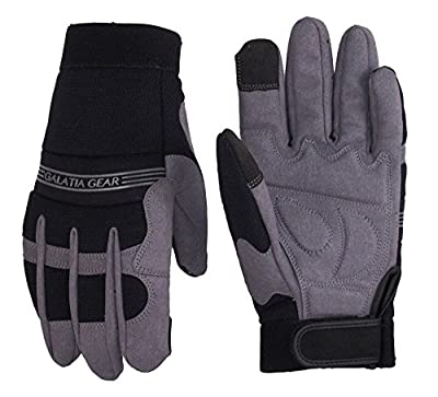 Synthetic Leather Work Gloves- Touch Screen Functional- Mechanic/Machine/Tactical/Utility - Tear Vibration Temperature Cut Resistant- Reinforced- PARENT