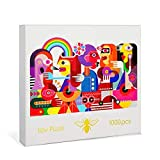 Ilov Puzel Modern Cubic Art Jigsaw Puzzles 1000 Pieces for Adults  Board Games  Perfect Fun Challenge for Adults, Kids 13+, and Teenagers. Great Gift for Christmas and Halloween!