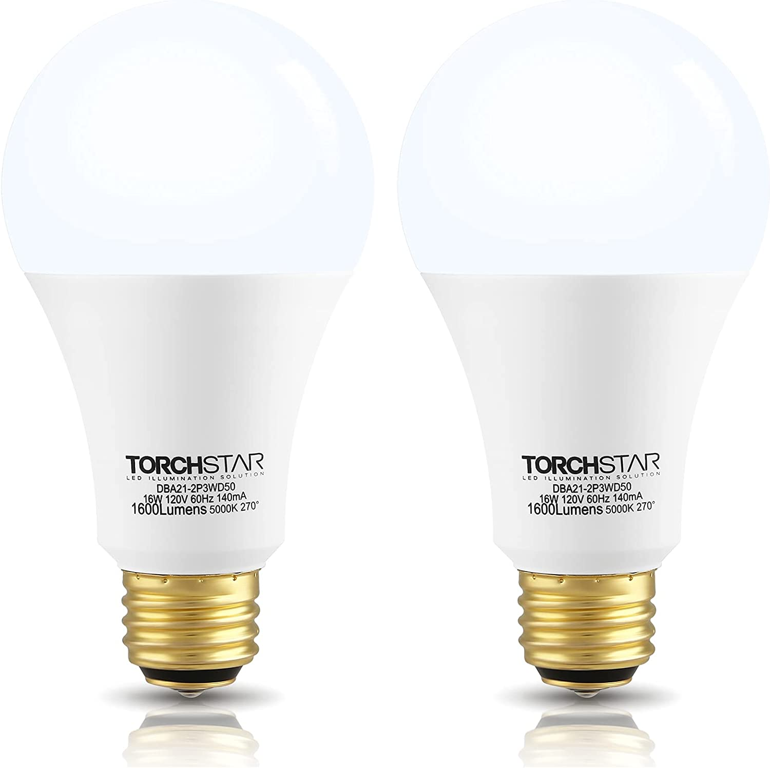TORCHSTAR LED 3-Way Light Bulb Award-winning store A21 UL-Listed Excellent 500 Star Energy