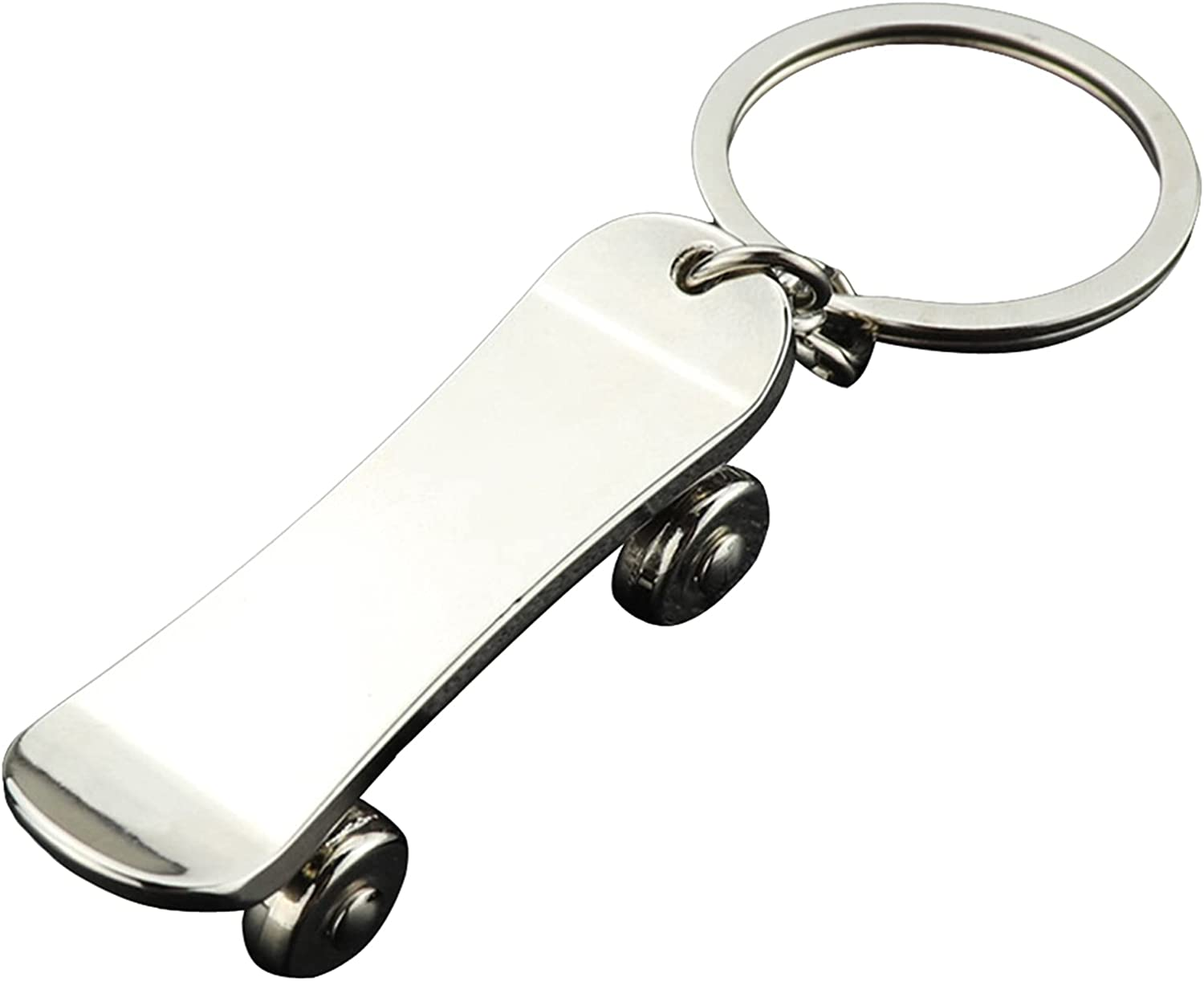 Alloy Skateboard OFFicial mail order Keychain Mini Safety and trust Keyring Cute Ha