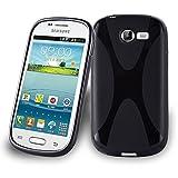 Cadorabo Funda para Samsung Galaxy Trend 2 en ÓXIDO Negro - Cubierta Proteccíon de Silicona TPU Delgada e Flexible con Antichoque - Gel Case Cover Carcasa Ligera