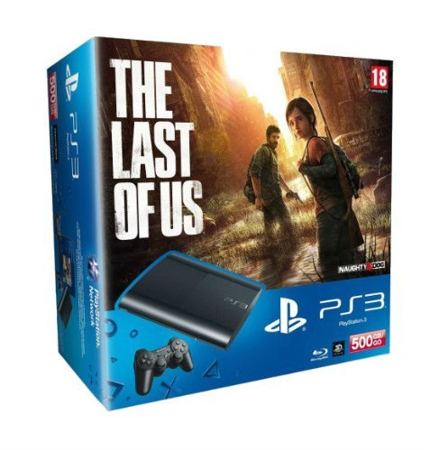 PlayStation 3 - Konsole Super Slim 500 GB (inkl. DualShock 3 Wireless Controller + The Last of Us)