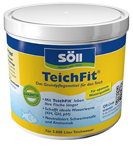 Söll 15211 TeichFit Grundpflegemittel für den Teich 500 g  - ganzjährig anwendbarer Wasseraufbereiter Stabilisator für Teichwasser im Gartenteich Fischteich Koiteich Schwimmteich
