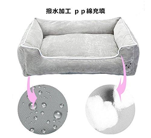 Orienexペットマット耐噛み素材使用柔らかいイヌ猫ベッド動物用品洗濯可能(M,グレー)