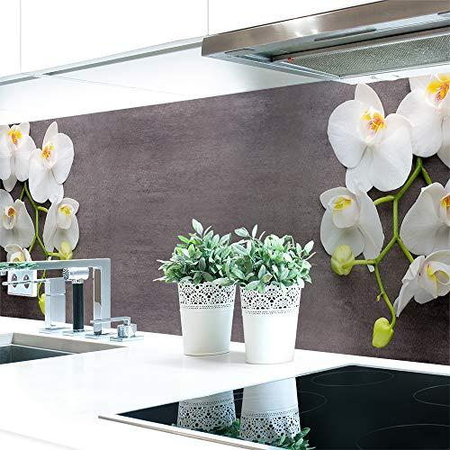 Küchenrückwand Orchideen Zweig Premium Hart-PVC 0,4 mm selbstklebend 60x51cm