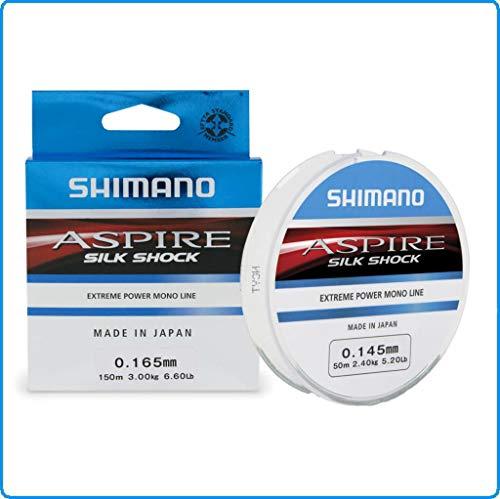 Shimano Aspire Silk Shock Extreme Power Mono - Caña de Pescar (150 m, 0,20 a 4,40 kg-9,70 LB)