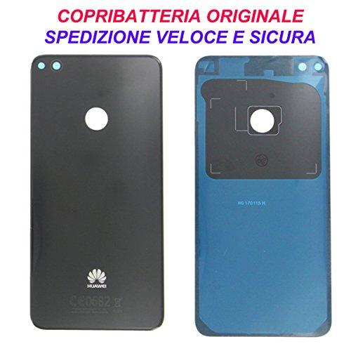 HUAWEI Scocca Copribatteria Back Cover Copri Batteria Posteriore Originale P8 Lite 2017 Nero Black con Adesivo Biadesivo Pra-LX1 LX3 LA1