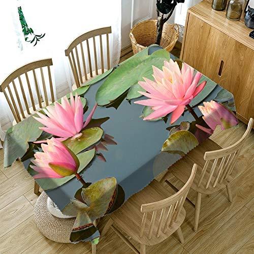 XXDD Mantel de patrón de Rosa Rosa 3D a Prueba de Polvo paño Lavable Rectangular Mantel Impermeable para Regla Mesa de Comedor de Cocina A3 140x140cm