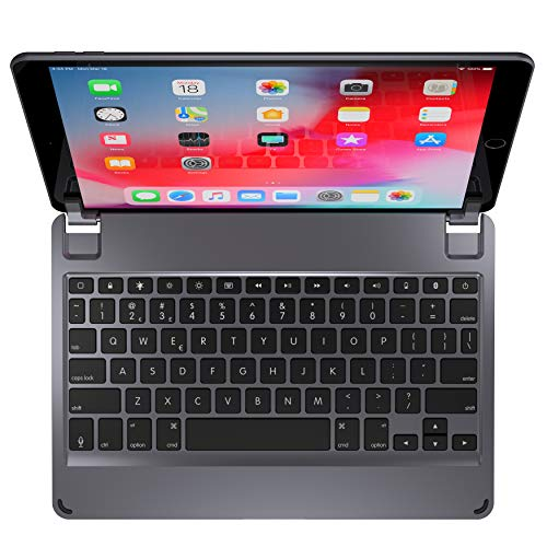 Brydge 10.5 Keyboard for iPad Air (2019) | Aluminum Bluetooth 4.2 Keyboard with Backlit Keys (Space Gray)