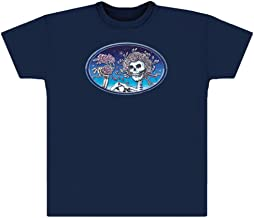 Grateful Dead Skull & Roses Blue Shirt by Dye The Sky