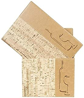 Securit Design Range Menu Box with 10 A4 Wine Lists 1 Double Insert Cork