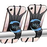 Soporte Movil Bici, 360° Rotación Soporte Movil Moto Bicicleta, Desmontable Anti Vibración Porta Telefono Motocicleta Montaña para 4-6,5', Compatible con iPhone / Samsung / Huawei (2 Pack)