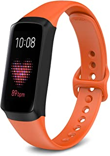 ANCOOL Compatible with Galaxy Fit Bands Soft TPU Wristband Strap Smartwatch Sport Bands Replacement for Smasung Galaxy Fit Fitness Tracker, Orange