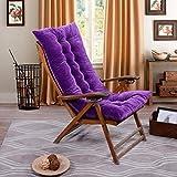Cojín para tumbonas de patio, para interior/exterior, para tumbonas o tumbonas, cojín para sofá de tatami, colchoneta para ventana D6/3 (color: púrpura) Jzx-n (color: púrpura)