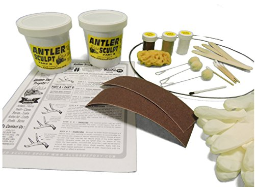 Pro Size Antler Art Crafting Epoxy Kit - Repair Horns Antlers Skulls Teeth Claws - 3 lb. JUMBO KIT -Great for antler lighting, furniture, collectibles, antler Christmas tree, wreaths and more!