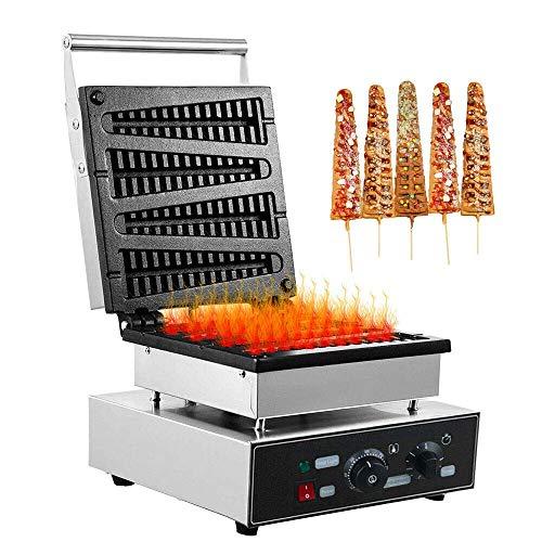 YIHGJJYP Waffeleisen 1,8 kW Gewerbe Waffle Toaster Lolly Stock DIY Waffel Hersteller Teflon beschichtet Non Stick Philippine Hot Dog Muffin