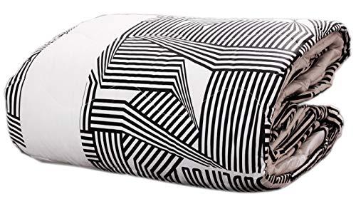 Juventus Gesteppte Tagesdecke aus Baumwolle, für Einzelbett, 170 x 270 cm, offizielles Produkt, Mehrfarbig