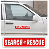 Solar Graphics USA Magnet Magnetic Sign Search and Rescue for Emergency, Responder Car Truck Or Vehicle - 3 x 14 inch, Be Sure Surface is Steel