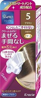 シンプロ ワンタッチ無香料ヘアカラー 5