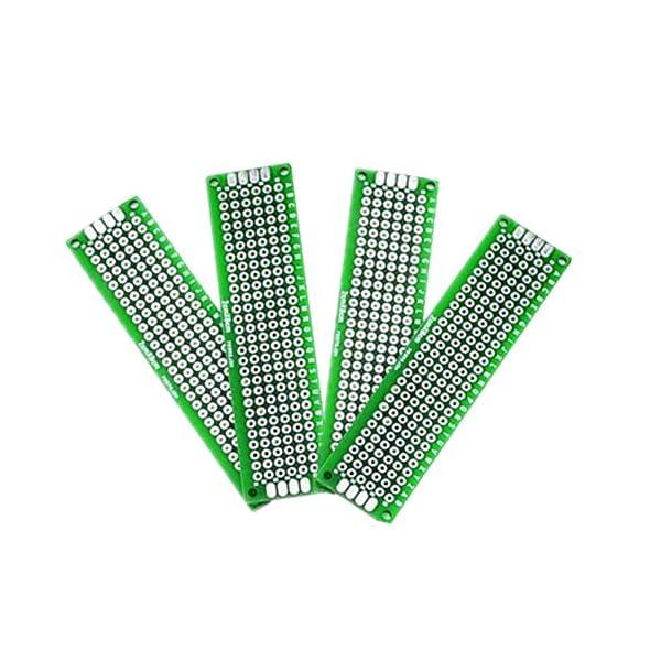 IZOKEE PCB Prototipo Placa Doble Cara 40 Pin Conector Bloque de Terminales