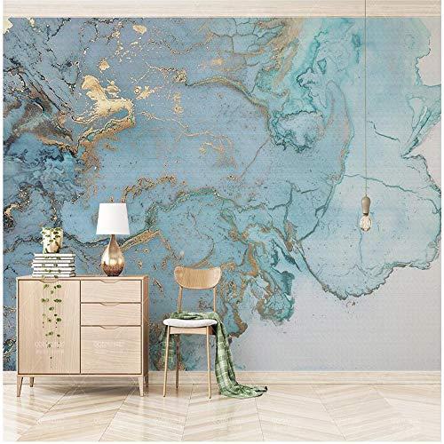 Fototapete 3D Effekt Tapete Vintage Blue Gold Textur Vliestapete 3D Wallpaper Moderne Wanddeko Wandbilder