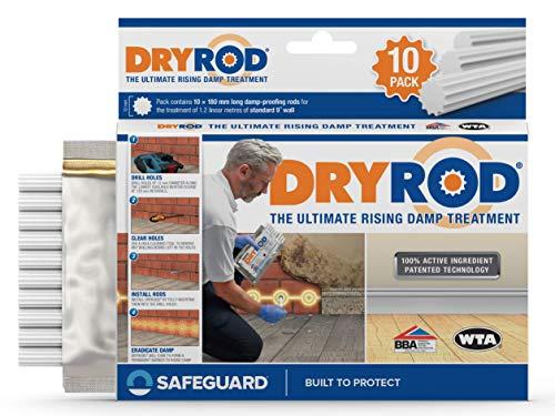 Dryrod Hochleistungs – Horizontalsperre – Stäbchen gegen aufsteigende Feuchtigkeit im Mauerwerk - WTA & BBA Zertifiziert (1 x 10)