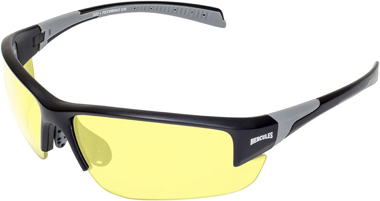 Global Vision Eyewear HERC 7 YT Hercules 7 Safety Glasses, Yellow Lens, Frame, Black