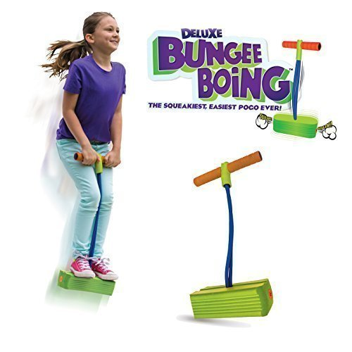 Geospace Jumparoo Deluxe Bungee Boing Foam Bouncing Toy - The Squeakiest,...