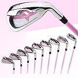 1Set 7piezas NUEVO JUEGO DE hierros de golf mujer palos de golf club con grafito eje alta calidad Golf rosa