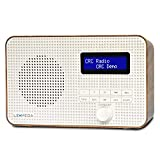 LEMEGA DR1 Portable DAB/DAB+/FM Digital Radio,Dual Alarms Clock,Kitchen/Sleep/Snooze Timer,20 Preset Stations, Headphones Output,dab