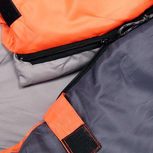 Schlafsack ICY North Mumienschlafsack 230 x 82 cm von -13°C bis 6°C Deckenschlafsack Campingschlafsack orange-anthrazit