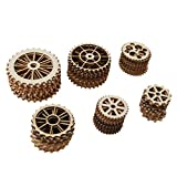 Fityle Pack of 70 Unfinished Blank Gear Wheel Wooden Pieces Gift Tags DIY Art Craft Project