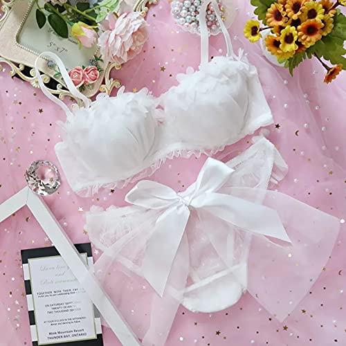 YINSHENG Ropa Interior de Tela Escocesa de algodón Retro Japonesa de algodón Puro Ropa Interior de niña Suave botón Dulce Tubo Superior Traje de niña Mini Vestido de Mujer Medias de sastrería s