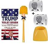 Consio ホルダー付きトイレブラシボウル お友達やご家族への面白いギャグギフト トイレを再び素晴らしく ノベルティギフト (ブラシ+ベース)。