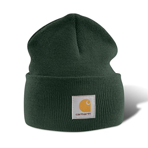 Carhartt Wintermütze/Beanie für Sie und Ihn, OFA, 100%Polyacryl, elastisch, verschiedene Farben (Dunkelgrün)