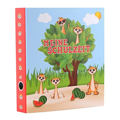 goldbuch Schulzeitsammelordner, Erdmännchen, A4, 5,5 cm Rückenbreite, Kunstdruck laminiert, grün/Blau, 35029