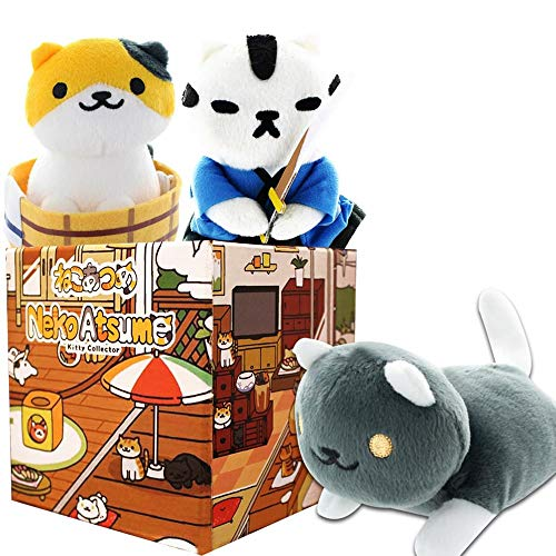 Neko Atsume Collectibles LookSee Box with Three Plushies | Japanese Anime Collection