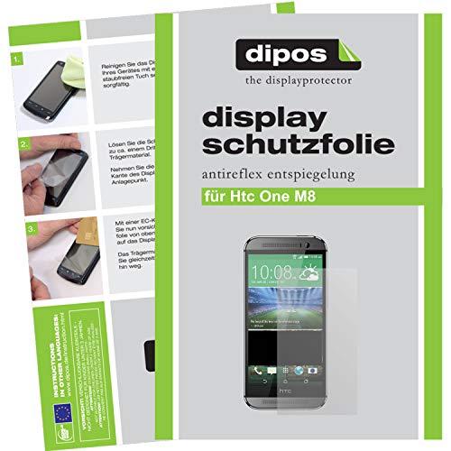 dipos I 2X Schutzfolie matt kompatibel mit HTC One M8 (Modell 2014) Folie Bildschirmschutzfolie