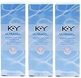K-Y KY Ultragel Personal Lubricant Pack of 3 @ 4.5 oz (133 ml) each