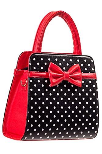 Banned Apparel Vintage 50s Rockabilly Carla gepunktet Handtasche