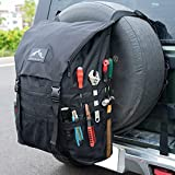 Himal Outdoors Spare Tire Trash Bag, Spare Tire Storage Bag,SUV Trunk Organizer for Outdoor Off-Road Recovery Gear,Black