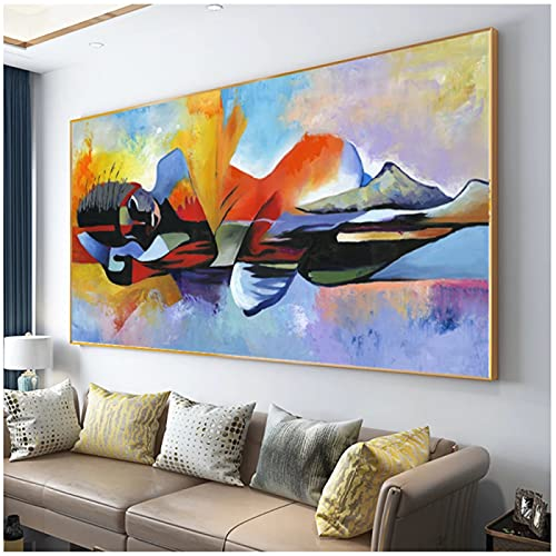 Drop shipping Larger Lord Buddha Abstract Oil Painting Buddha Canvas Religious Poster Print Wall Art Pictures for Living Room