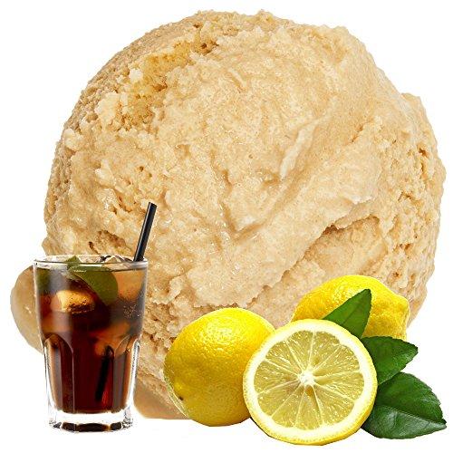 Cola Zitrone Geschmack Eispulver VEGAN - OHNE ZUCKER - LAKTOSEFREI - GLUTENFREI - FETTARM, auch für Diabetiker Milcheis Softeispulver Speiseeispulver Gino Gelati (Cola Zitrone, 1 kg)
