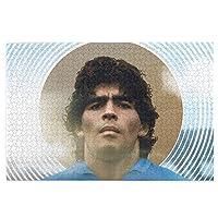 Jinfeazge 1000ピース ディエゴ・マラドーナ Diego Armando Maradona グッズ ジグソーパズル 木製 75cmx50cm サッカー 神の子 ゴールデンボーイ アルゼンチン スーパースター 英雄