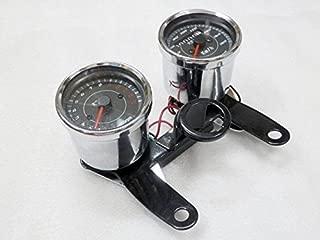 Motorcycle Odometer Speedometer Tachometer w/Bracket for Yamaha SR XV RX Cafe Racer Suzuki Honda Kawasaki