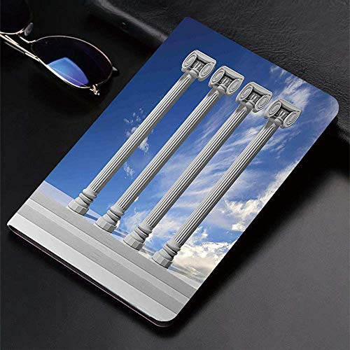 Case for iPad (9.7-Inch, 2018/2017 Model, 6th/5th Generation)Ultra Slim Lightweight Smart Cover,Pillar,Historical Theme Four Ancient Marble Pillars and The Sky Digital Ima,Smart Covers Auto Wake/Sleep