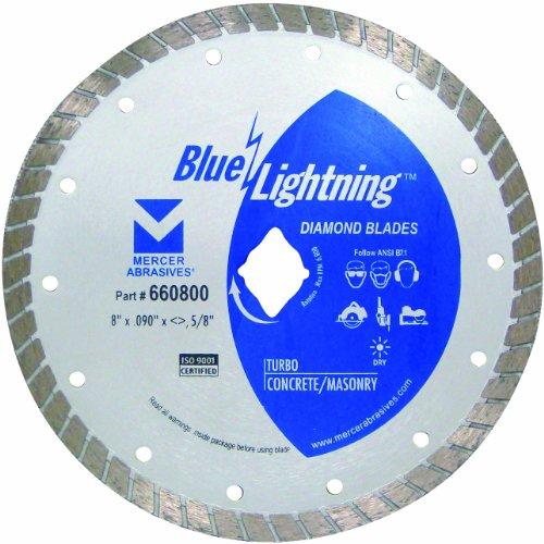 mercer abrasives 14 diamond blades Mercer Industries 660800 Blue Lightning Turbo Diamond Blade, 8-Inch