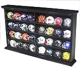 Pocket Pro Pocket Size Mini Football/Baseball Helmet Display Case Cabinet Holders Rack w/UV Protection (Black Finish)