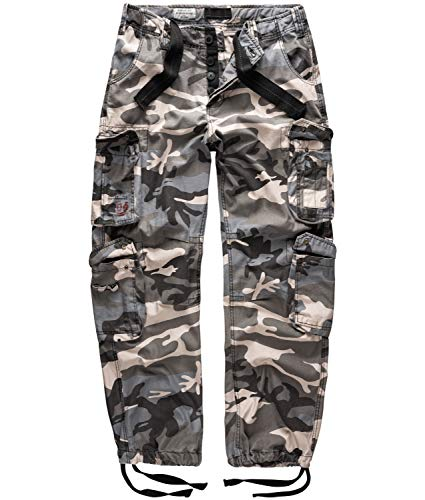 Surplus - Pantalon Homme - Airborne Vintage Trousers - Multicolore (Nightcamo) - FR : XX-Large (Taille fabricant : XX-Large)